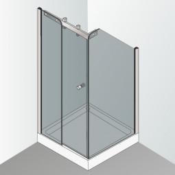 Cabine de douche sur mesure en angle