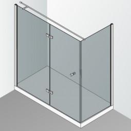 Cabine de douche intégrale en angle